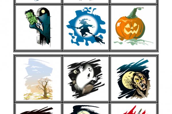 Halloween - Spillekort