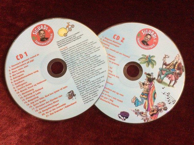 Sigurd fortæller danmarkshistorie på cd'er