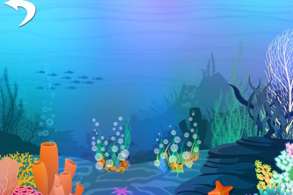 Peekaboo med dyr i havet