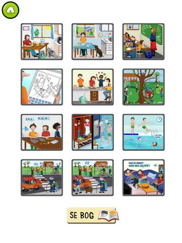 Flere små spil med læsning