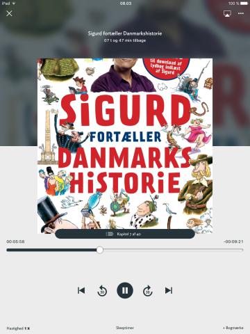 Sigurd fortæller danmarkshistorie som lydbog