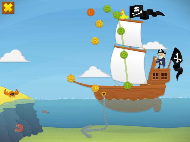Sjov med pirater i app
