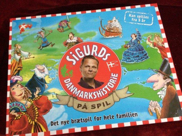 Brætspil med Sigurds danmarkshistorie