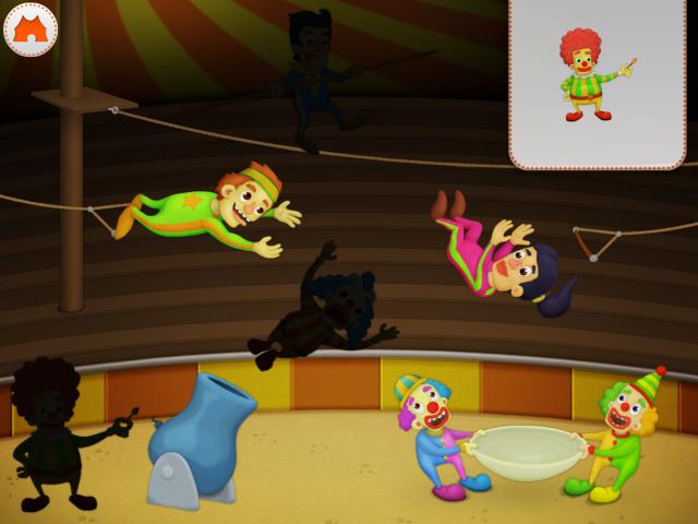 Sjov i cirkus med dyr i manegen
