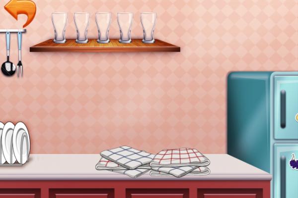 Peekaboo med ting i køkkenet