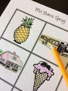 Sprogstimulering med tegninger