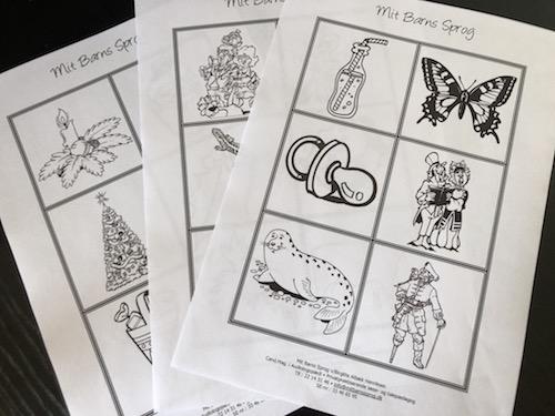 Tegninger til sprogstimulering