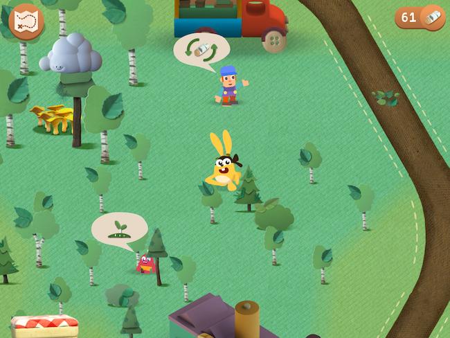 Hjælp kaninen i Grow Forest