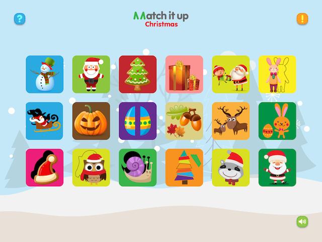 Match ting fra jul, påske og halloween i MatchitupChristmas