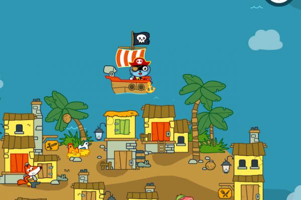 Hjælpe Pango Pirate med at finde guld