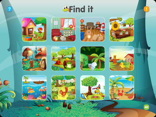 Led efter dyrene i Find It