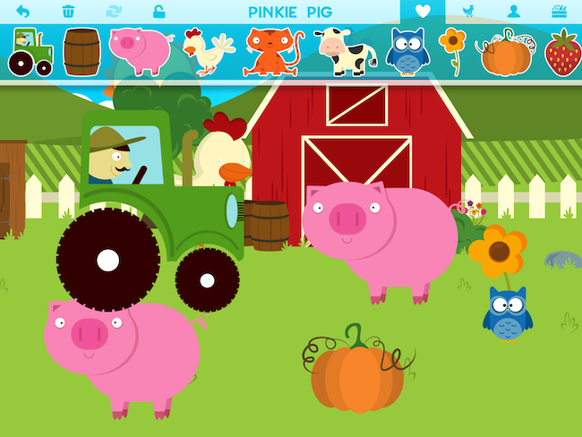 Lav dit eget klistermærkebillede med Farm Story